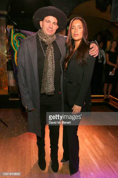 Danny Minnick and Lily Fortescue attend the International Day of the Girl Child Charity Event At The Original Annabel's hosted by The Bardou...