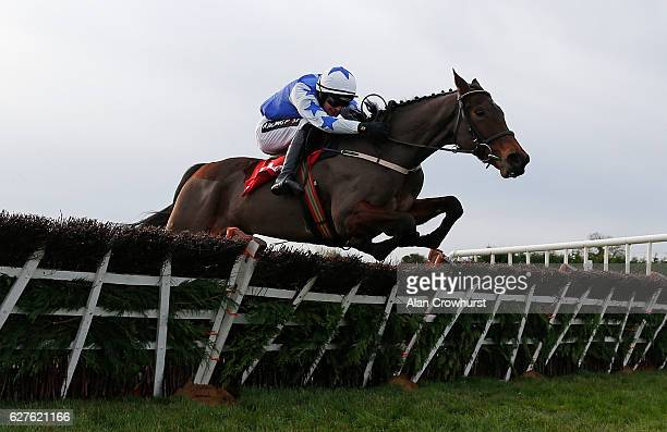 Danny Mullins riding Airlie Beach clear the last to win The Bar Obe Racing Royal Bond Novice Hurdle at Fairyhouse racecourse on December 4 2016 in...