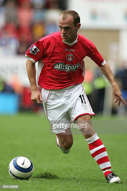 Danny Murphy of Charlton handles the ball during the Barclays Premiership match between Charlton Athletic and Wigan on August 20 2005 at The Valley...