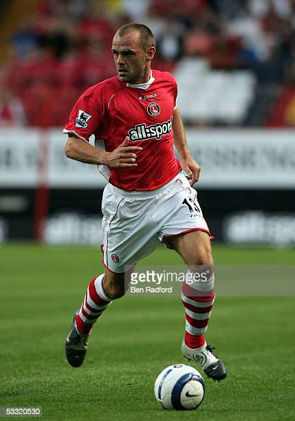 Danny Murphy of Charlton in action during the Friendly match between Charlton Athletic and Feyenoord at The Valley on August 3, 2005 in London,...