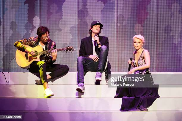Danny Ocean and Alba Reche perform on stage during the 2020 Odeon Awards at Royal Theater on January 20 2020 in Madrid Spain