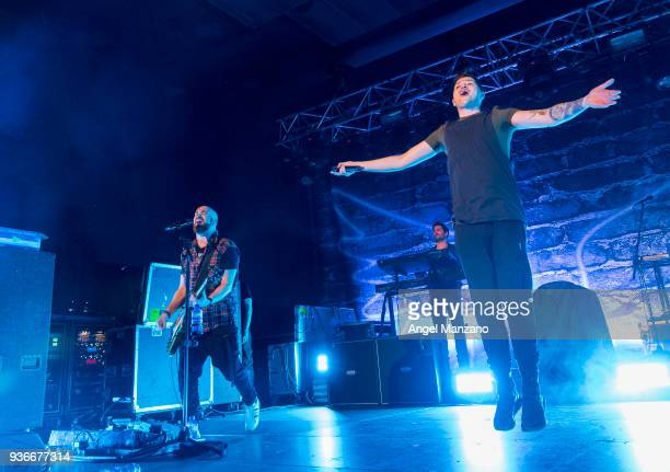 Danny O'Donoghue and Mark Sheehan from The Script perform in concert at Vistalegre on March 22 2018 in Madrid Spain