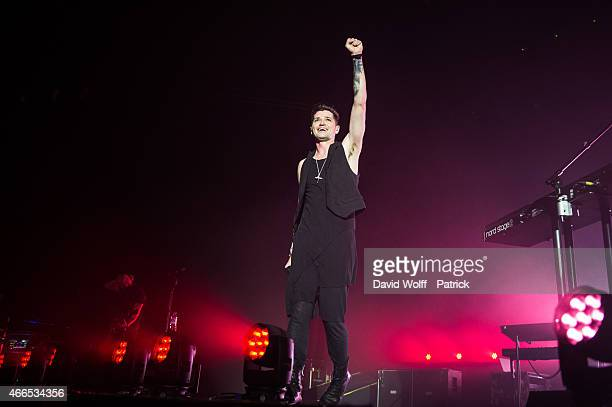 Danny O'Donoghue from The Script performs at Zenith de Paris on March 16 2015 in Paris France