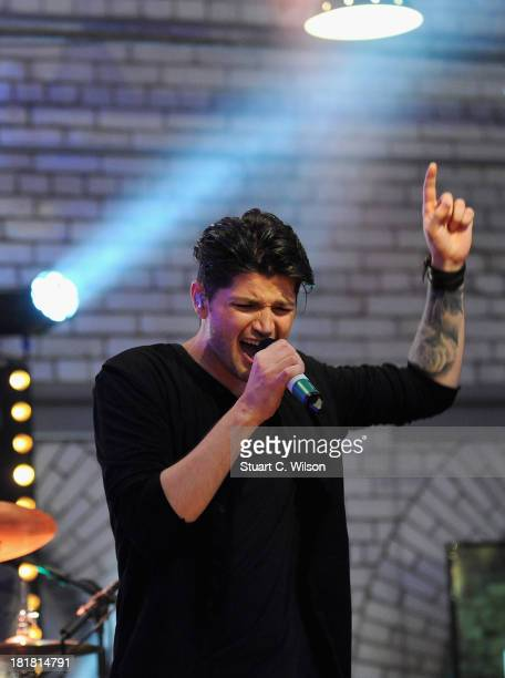 Danny O'Donoghue from The Script performs on the From The Storehouse With Dermot Whelan show, which aired on RTE 2, ahead of this year's Arthur's Day...