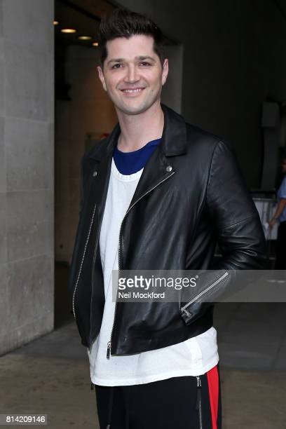 Danny O'Donoghue from The Script seen at BBC Radio One promoting their new single 'Rain' on July 14 2017 in London England