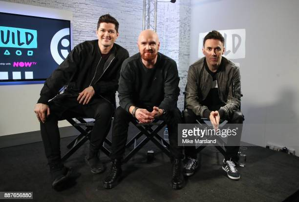 Danny O'Donoghue Mark Sheehan and Glen Power from The Script visits BUILD London on December 7 2017 in London England