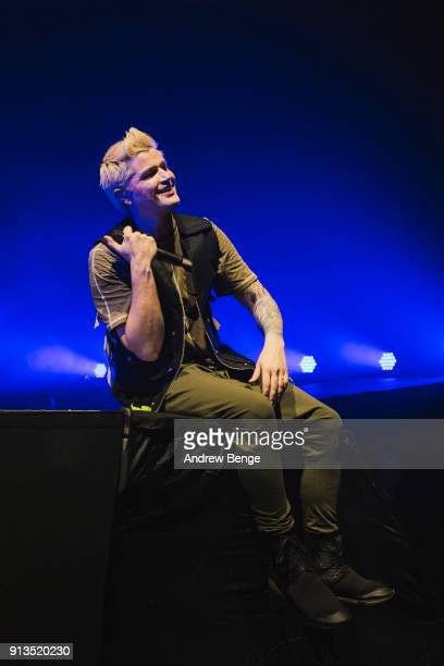 Danny O'Donoghue of The Script perform live on stage at First Direct Arena Leeds on February 2 2018 in Leeds England