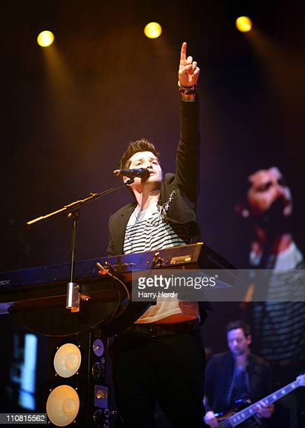 Danny O'Donoghue of The Script performs at Bournemouth International Centre on March 24 2011 in Bournemouth England