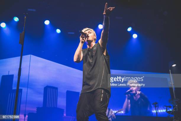 Danny O'Donoghue of The Script performs at Motorpoint Arena on February 20 2018 in Cardiff Wales