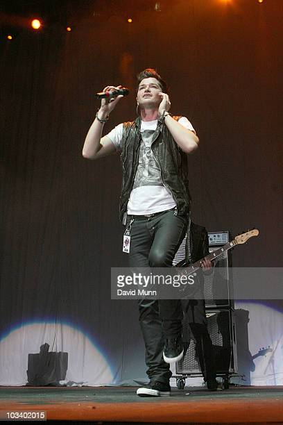 Danny O'Donoghue of The Script performs at Radio City LIVEat Echo Arena on August 15 2010 in Liverpool England