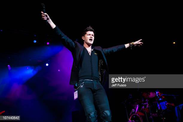 Danny O'Donoghue of The Script performs at the Q102 Jingle Ball at the Susquehanna Bank Center on December 8 2010 in Camden New Jersey