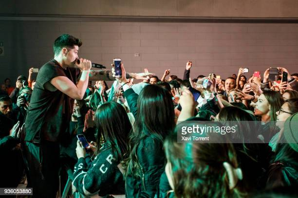 Danny O'Donoghue of The Script performs in concert at Sant Jordi Club on March 21 2018 in Barcelona Spain