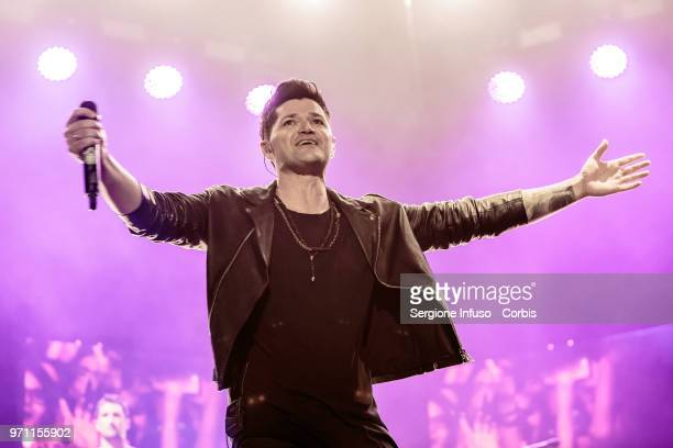 Glen Power of The Script performs on stage at Mediolanum Forum on June 10 2018 in Milan Italy