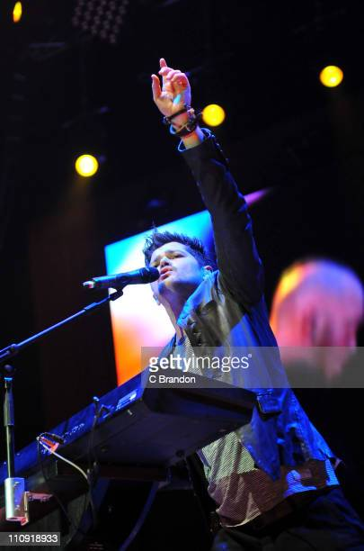 Danny O'Donoghue of The Script performs on stage at O2 Arena on March 26 2011 in London England