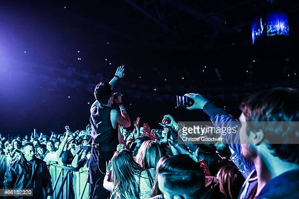 Danny O'Donoghue of The Script performs on stage at The O2 Arena on March 13 2015 in London United Kingdom