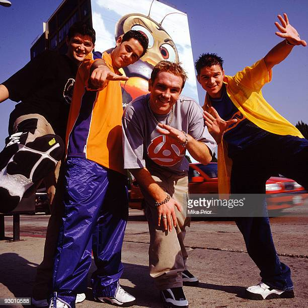 Danny O'Donoghue Terry Daly Mark Sheehan and Paul Walker of boyband MyTown pose for a group portrait in 1999 in London O'Donoghue and Sheehan later...