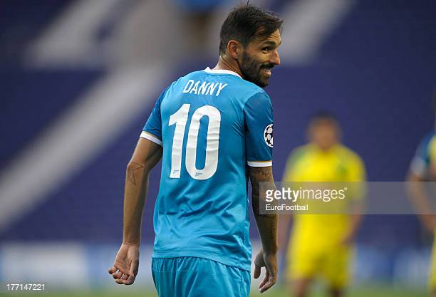 Danny of FC Zenit St Petersburg in action during the UEFA Champions League playoff first leg match between FC Pacos de Ferreira and FC Zenit St...