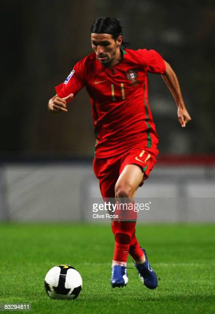 Danny of Portugal in action during the FIFA2010 Group One World Cup Qualifying match between Portugal and Albania at the Estadio Municipal de Braga...