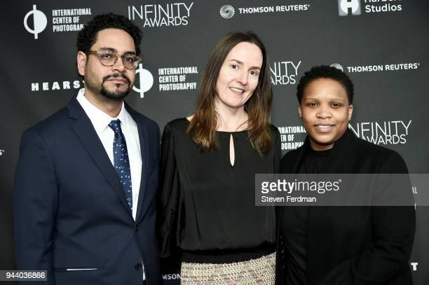 Danny Peralta Lacy Austin and Alexandra Bell attend the International Center of Photography's 2018 Infinity awards on April 9 2018 in New York City