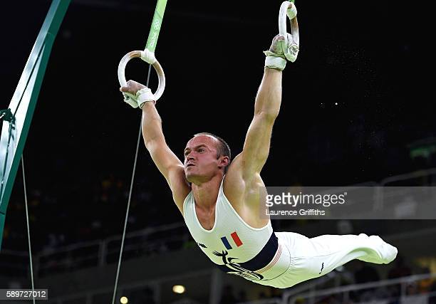 Danny Pinheiro Rodrigues of France competes in the Men's Rings Final on day 10 of the Rio 2016 Olympic Games at Rio Olympic Arena on August 15 2016...