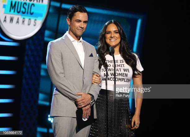Danny Pino and Ana Lorena Sanchez speak onstage during the 2018 Latin American Music Awards at Dolby Theatre on October 25 2018 in Hollywood...