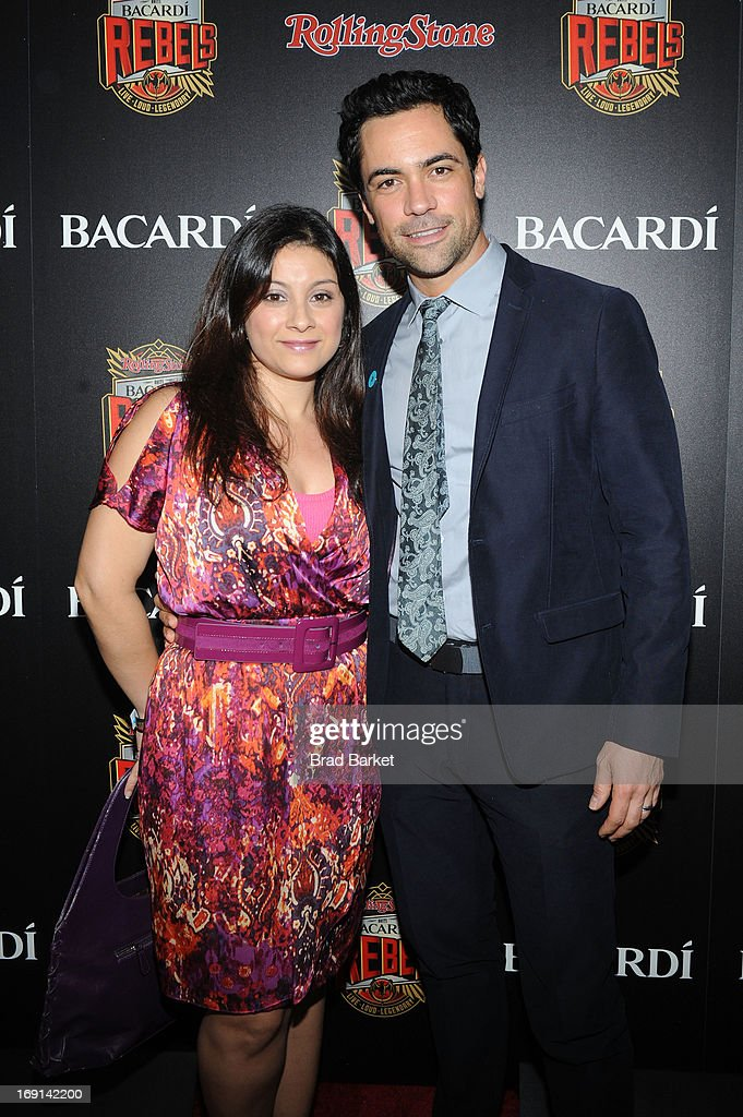 Danny Pino (R) and guest attend Rolling Stone hosts Bacardi Rebels at Roseland Ballroom on May 20, 2013 in New York City.