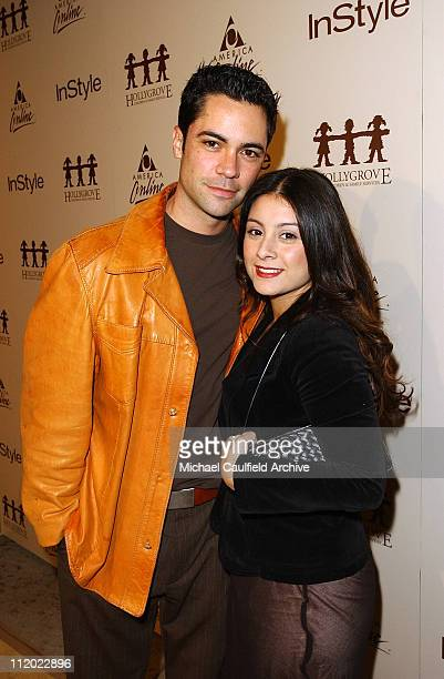 Danny Pino and Lilly Pino during Minnie Driver Performance Hosted by InStyle Magazine and AOL at Mortons in West Hollywood California United States