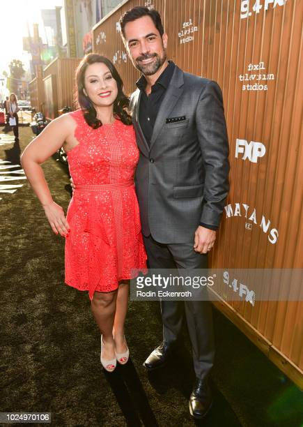 Danny Pino and Lily Pino arrive at the premiere of FX's Mayans MC at TCL Chinese Theatre on August 28 2018 in Hollywood California