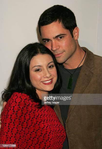 Danny Pino and wife Lilly during CBS and UPN 2005 TCA Party Arrivals at Quixote Studios in Los Angeles California United States