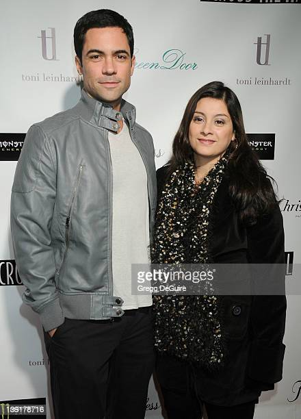 Danny Pino and wife Lily arrive at the Across the Hall Premiere at the Laemmle Music Hall 3 on December 1 2009 in Beverly Hills California