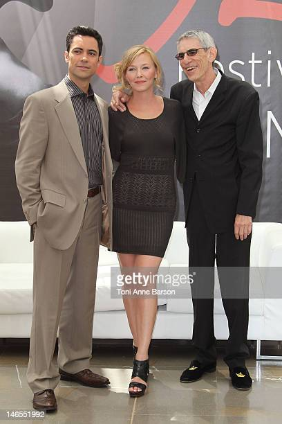 Danny Pino Kelli Giddish and Richard Belzer attend 'Law Order Special Victims Units' photocall during the 52nd Monte Carlo TV Festival on June 12...