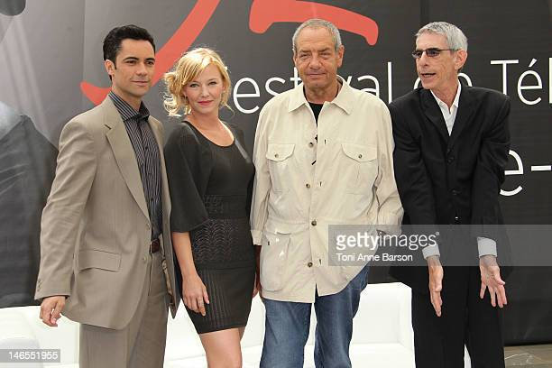 Danny Pino Kelli Giddish Dick Wolf and Richard Belzer attend 'Law Order Special Victims Units' photocall during the 52nd Monte Carlo TV Festival on...