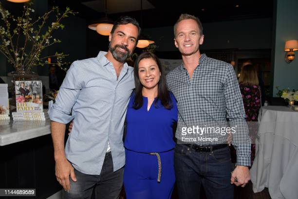 Danny Pino Lily Pino and Neil Patrick Harris are seen as cookbook author David Burtka celebrates the launch of Life Is a Party with the Capital One...