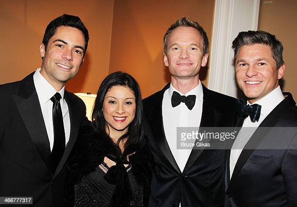 Danny Pino Lily Pino Neil Patrick Harris and David Burtka attend The Drama League's 30th Annual Musical celebration of Broadway honoring Neil Patrick...