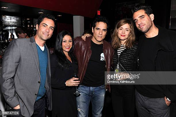 Danny Pino Lily Pino Yul Vazquez Rose Byrne and Bobby Cannavale attend LAByrinth Theater Company Celebrity Charades 2013 Benefit Gala on October 28...