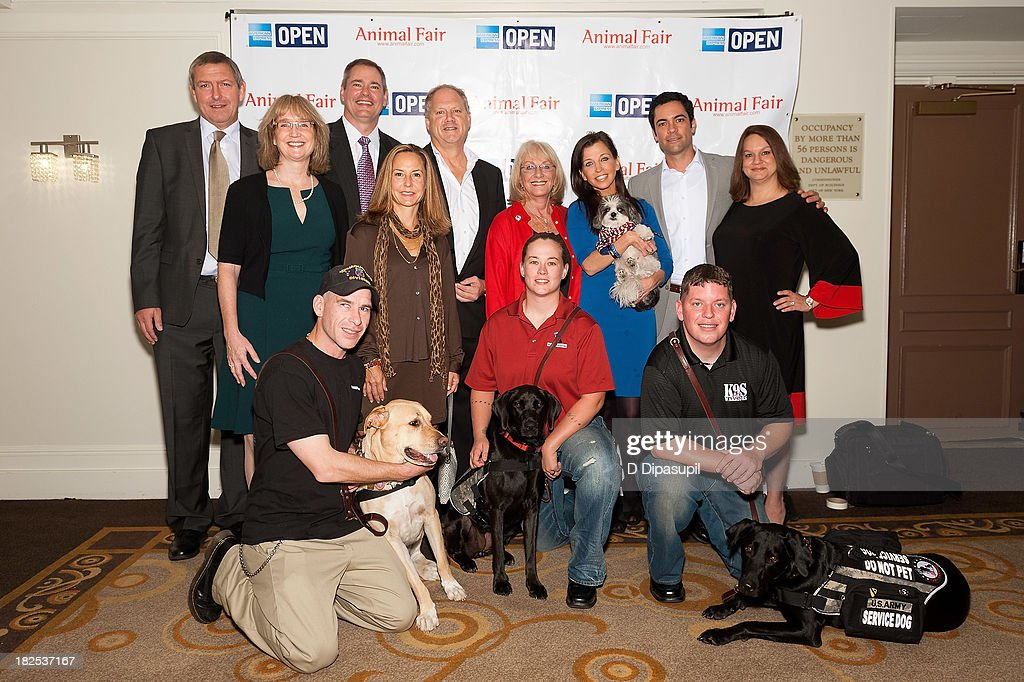 Danny Pino, Wendy Diamond, Shari Duval, and guests attend the 'Animalfair.com's Bark Business Tour Benefiting K9s For Warriors at the Omni Berkshire Place Hotel on September 30, 2013 in New York City.