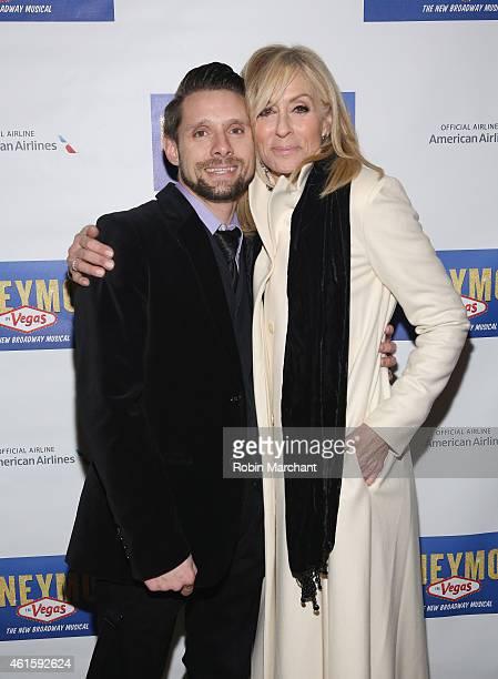 Danny Pintauro and Judith Light attend Honeymoon In Vegas Broadway Opening Night at Nederlander Theatre on January 15 2015 in New York City