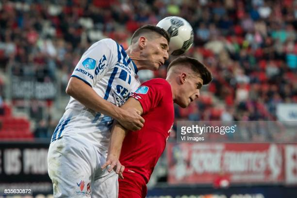 Danny Post of VVV Marko Kvasina of FC Twente during the Dutch Eredivisie match between FC Twente and VVV Venlo at the Grolsch Veste on August 19 2017...