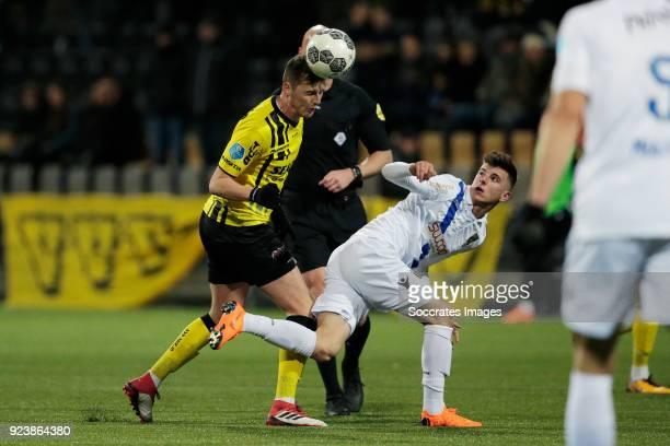 Danny Post of VVV Venlo Mason Mount of Vitesse during the Dutch Eredivisie match between VVVvVenlo Vitesse at the Seacon Stadium De Koel on February...