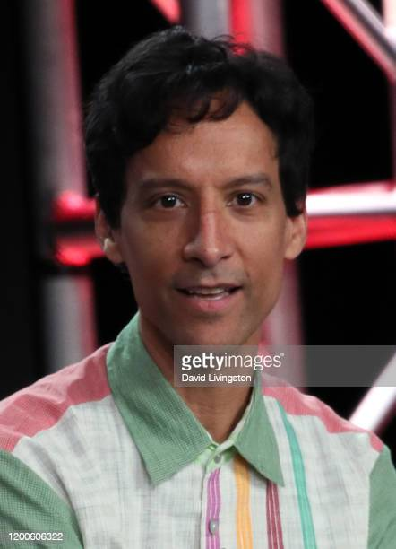 Danny Pudi of Mythic Quest Raven's Banquet speaks on stage during the Apple TV segment of the 2020 Winter TCA Tour at The Langham Huntington Pasadena...