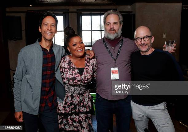 Danny Pudi, Yvette Nicole Brown, Dan Harmon and Jim Rash in the Heineken Green Room at Vulture Festival Presented By AT&T at The Roosevelt Hotel on...