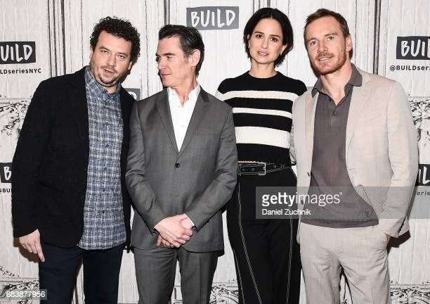 Danny R McBride Billy Crudup Katherine Waterston and Michael Fassbender attend the Build Series to discuss the movie 'Alien Covenant' at Build Studio...