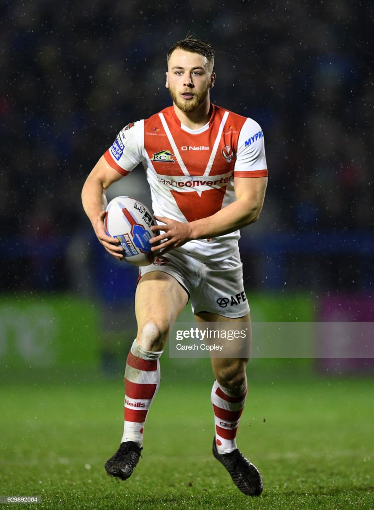 Danny Richardson of St Helens during the Betfred Super League between Warrington Wolves and St Helens on March 9, 2018 in Warrington, England.