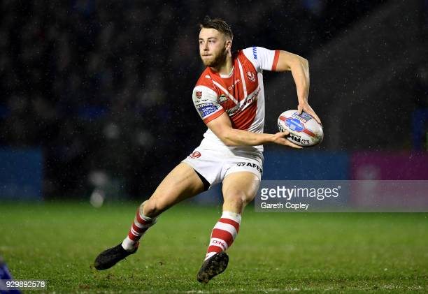 Danny Richardson of St Helens during the Betfred Super League between Warrington Wolves and St Helens on March 9 2018 in Warrington England