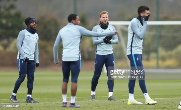 Danny Rose Kyle WalkerPeters Harry Kane and Paulo Gazzaniga of Tottenham Hotspur during the Tottenham Hotspur training session at Tottenham Hotspur...