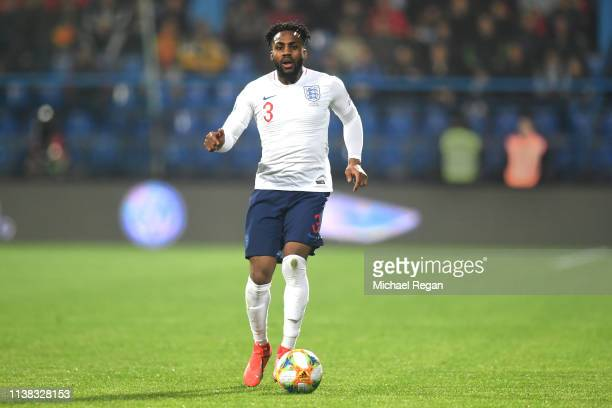 Danny Rose of England in action during the 2020 UEFA European Championships group A qualifying match between Montenegro and England at Podgorica City...