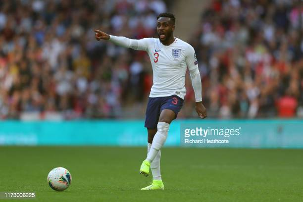 Danny Rose of England in action during the UEFA Euro 2020 qualifier match between England and Bulgaria at Wembley Stadium on September 07, 2019 in...