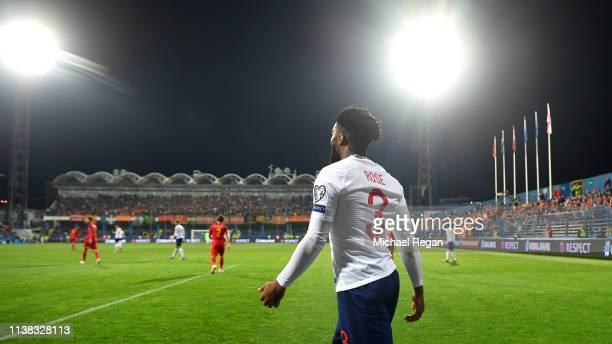 Danny Rose of England looks on during the 2020 UEFA European Championships group A qualifying match between Montenegro and England at Podgorica City...