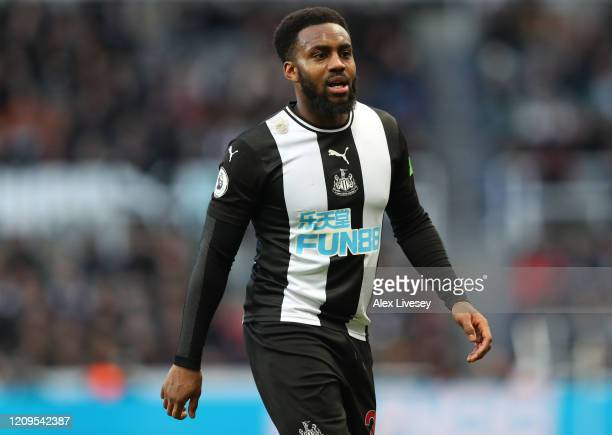 Danny Rose of Newcastle United during the Premier League match between Newcastle United and Burnley FC at St. James Park on February 29, 2020 in...