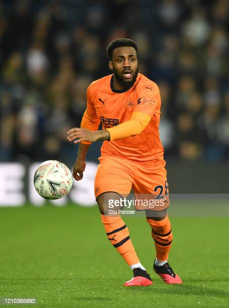 Danny Rose of Newcastle United in action during the FA Cup Fifth Round match between West Bromwich Albion and Newcastle United at The Hawthorns on...